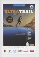 ULTRA-TRAIL Sport Côte D'Azur Mercantour 2015 Département 06 Alpes Maritimes, 140, 42, 22, 13 Km...(cp Vierge) - Reclame