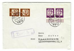 Brief  Aus Fellbach 1970 Nach München, Zurück - Zonder Classificatie