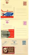 3 Ongelopen Postkaarten Nummers 488 - 2646 N - 2697 N - Viamine - Butterfly - Moulinex - Publibel - Publibels