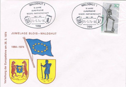 41271. Carta WALDSHUT (Alemania) 1974.  Jumelage Blois - Waldhust. Tema EUROPA - Covers & Documents