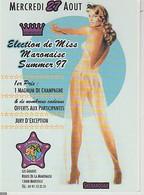 ELECTION  DE  MISS  MARONAISE  - SUMMER  97 )   C P M  ( 21 / 8 / 11 ) - Reclame