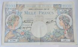 FRANCE 1000 FRANCS COMMERCE ET INDUSTRIE 28 Novembre 1940 KK. - 1 000 F 1940-1944 ''Commerce Et Industrie''