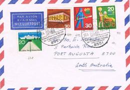 41278. Carta Aerea GOSSWEINSTEIN (Alemania) 1970 A Australia. Tema EUROPA - Covers & Documents