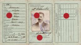 Macon Chimay 1919 Carte D' Identité Au Nom De  Nicolas Delchambre Sabotier  / RARE - Other