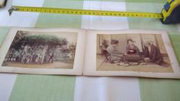 Photos Anciennes Papier Albuminé Japon Geisha Samouraï Lot 4 - Photographs