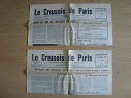LOT DE 2 JOURNAUX LE CREUSOIS DE PARIS 1972 - 1950 - Heute
