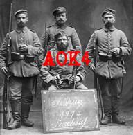 59 Nord Comines Flandern Ypern 1914 Train Bayern Lille Nordfrankreich Uniform Seitengewehr - Guerra, Militari