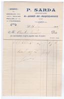 AUDE - ST-ANDRE-de-ROQUELONGUE - P. SARDA - Engrais - Grains - Pailles Et Fourrages - 1900 – 1949