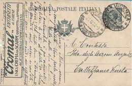 REGNO - INTERO POSTALE PUBBLICITARIO CROMAL FACCHINETTI DI THIENE  - CREMA DA SCARPE - VIAGGIATO 1920 - M106 - Postwaardestukken
