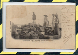 PNOMPENH . - . 8 - ARMES ET BAGAGES DES MILICIENS DESCENDANT DU LAOS. CIRCULEE EN 1904 - Cambodia