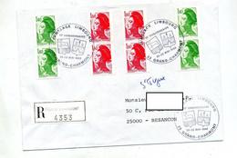 Lettre Recommandée Grand Charmont Jumelage Limbourg - Cachets Commémoratifs