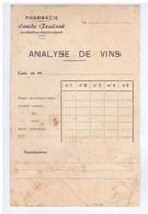 AUDE - ST-ANDRE-de-ROQUELONGUE - Emile FRAÏSSE - Pharmacie - Analyse De Vins - 1900 – 1949