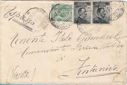 REGNO - ESPRESSO CON ANNULLO AMB. CADORE - VENEZIA PER FONTANIVA 30.01.1917 - M114 - Marcofilie