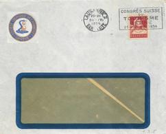 """Motiv Brief  """"Société Chimique De L'Avanchet, Genève""""  (Flagge: Congrès Du Tourisme, Berne)        1934 - Cartas"""