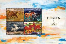 Grenada-2015-Painting-Horses In Art - Grenada (1974-...)
