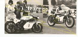 RARE  DOUBLE  PHOTO  ALBI  MOTO COURSE CIRCUIT - Albi