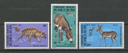 AFARS ISSAS 1976 N° 416/418 ** Neufs MNH Superbes Faune Animaux Hyène Ane Sauvage Animals Fauna - Nuovi