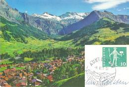 "AK  ""Adelboden - Berner Oberland""  (Werbedatumstempel)        1961 - Covers & Documents"