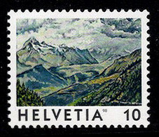 Switzerland 1998 Mountains Berge Simplon Pass Aletschhorn MNH ** - Nuovi