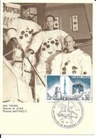 ESPACE FRANCE 1973 LE BOURGET SALON AERONAUTIQUE CARTE J YOUNG  C M DUKE  T MATTINGLY - Europe