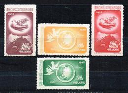 "China P.R. 1952, "" Peace Conference Asia - Pacific Ocean ""  Mi. 192 - 195 Ungebraucht / MNH / Neuf - Ongebruikt"