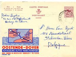 1965 Publibel  Kaart Oostende Dover Nr 2083 Van LIBRAMONT BXB Naar Sint Niklaas - Lijnstempel HABAY LA NEUVE Cadré - Publibels