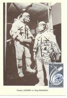 ESPACE FRANCE 1975 LE BOURGET SALON AERONAUTIQUE CARTE VASSILY LAZAREV Et OLEG MAKAROV - Europe