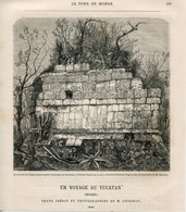 1862 Print Yucatan Mexico Guatemala Maya Chichen Itza Circus Gymnastics - Prints & Engravings