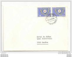 """80 - 59 - Lettre Envoyée à Genève Avec Cachet Chemin De Fer """"Bahnpost/Ambulant"""" 1966 - Covers & Documents"""