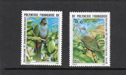 BIRDS  - FRENCH POLYNESIA - 1989 - UNIQUE BIRDS SET OF 2   MINT NEVER HINGED - Columbiformes