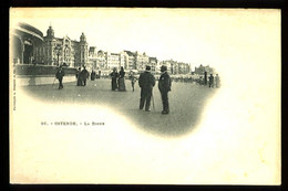 OSTENDE - 26 : La Digue - (plan Animé) - CP Précurseur, Vers 1900, Dos Non Divisé. - Oostende
