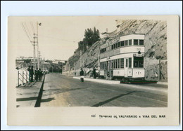 XX13578/ Tramvias De  Valparaiso Chile Straßenbahn Foto AK Ca.1925 - Chile