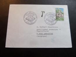 Enveloppe Tp EUROPA (1978), Cachets Conseil De L'Europe, Taxe (tp Belgique Type Elström) - Briefe U. Dokumente