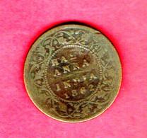 INDIA, 1862, 0,5 Anna,  C 807 - India
