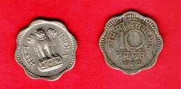 INDIA, 1961-1962, 10 Naye Paise,  Copper Nickel, KM578.2, C 833 - India