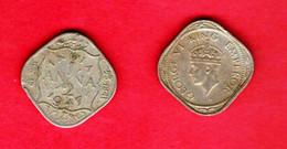 INDIA, 1942-1943, 0,5 Anne, Nickel Brass, KM534, C 838 - India