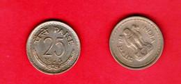 INDIA, 1975-1978, 25 Paise, Copper Nickel, KM49.1, C 855 - India