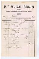 AUDE - SAINT-ANDRE-DE-ROQUELONGUE - Mlle Alice BRIAN - Modes - Vestiario & Tessile