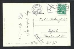 SUISSE 1937: Cp Ill. De Zürich Pour La Yougoslavie - Cartas