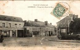 72 CIRCUIT DE LA SARTHE 1906 CONNERRE VIRAGE DE LA ROUTE DU MANS - Connerre