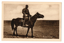 1910s MONGOLIE / Mongolia Mongolian Horseman W/ His Horse Swedish Mission Station Postcard Cpa China Chine Cheval - Cina
