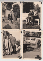 (F19312) 4x Orig. Foto Hamburg, Personen Spazieren In Planten Un Blomen 1955 - Anonymous Persons