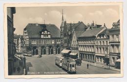 AK Um 1940 Markt Belebt Straßenbahn Minden - Minden