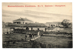 1910s CHINE Huangehow Swedish Mission Station Postcard Cpa China No 9 Sweden Hupeh - Cina