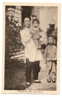 1910s CHINE 5th Woman / Wife Tso With Children Swedish Church Mission Station Postcard Cpa China Sweden - Cina