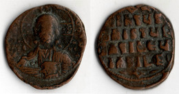 EMPIRE BYZANTIN Follis BUSTE DU CHRIST DE FACE - Byzantine