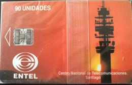 CHILI - Phonecard - ENTEL - Centro National De Telecomunicaciones Santiago - 90 Unidades - Cile