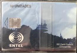 CHILI - Phonecard - ENTEL - R/E Cerro Caracol Conception - 60 Unidades - Cile