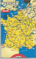 JP / Superbe DISQUE DE STATIONNEMENT  S.C.A.E VERNON 27  Verso CARTE DE FRANCE   Distances AUTOMOBILE - Coches