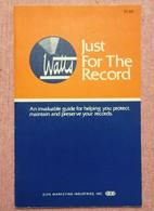 Old Guide WATTS - JUST FOR THE RECORD Elma Music Gramophon - Non Classificati